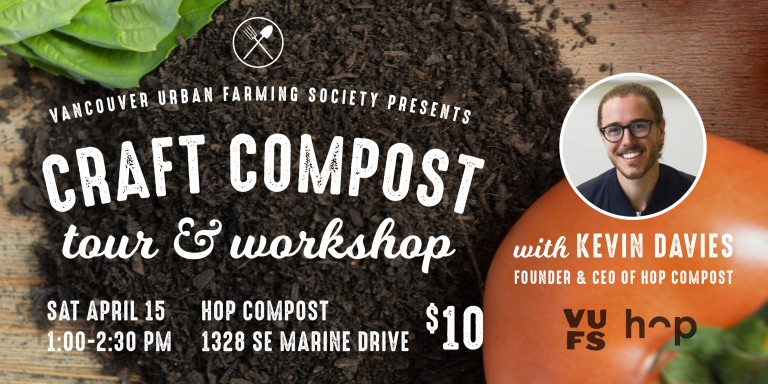 Hop Compost Workshop and Tour poster